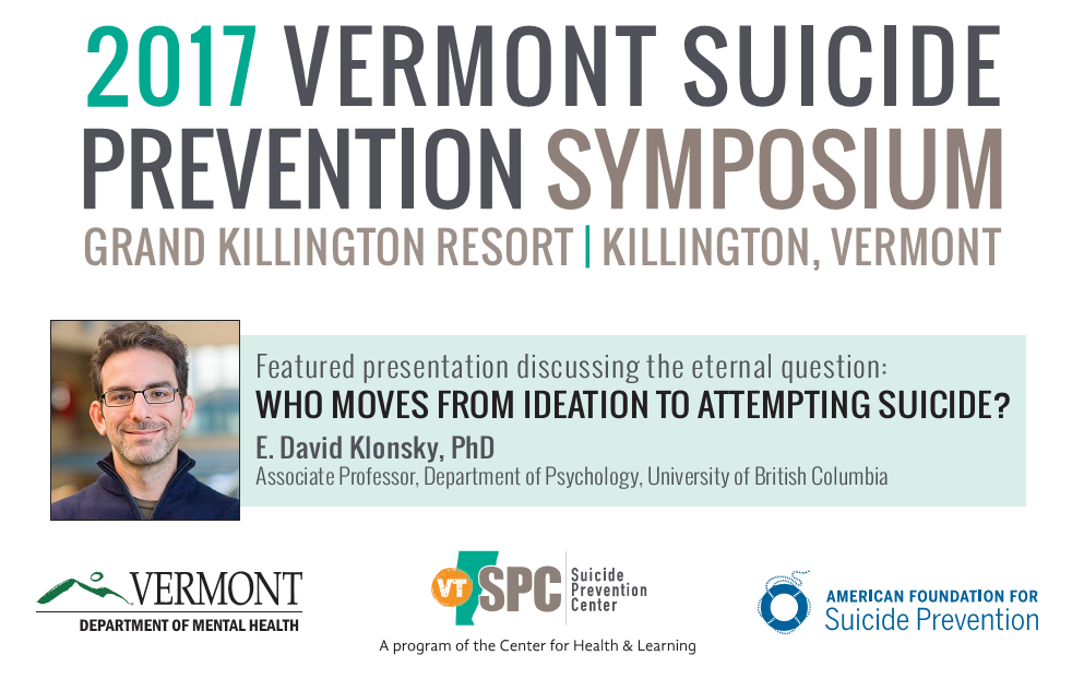 2017 Vermont Suicide Prevention Symposium @ Killington Grand Resort