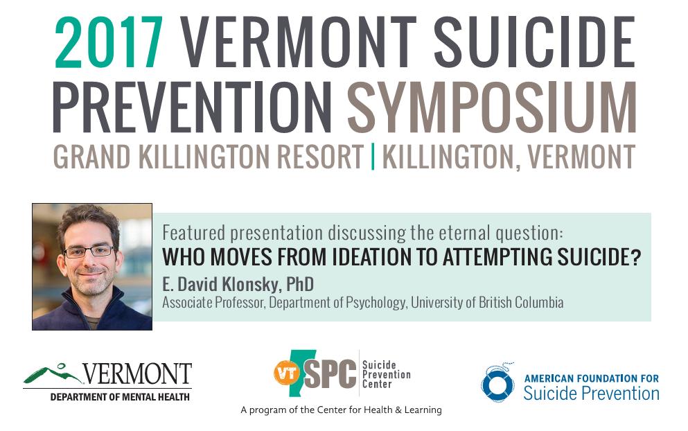 2017 Vermont Suicide Prevention Symposium @ Killington Grand Resort