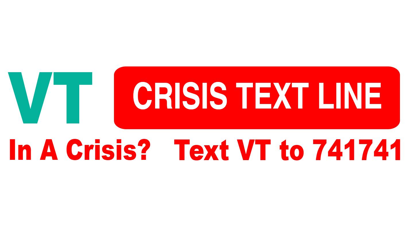 VT Crisis Text Line