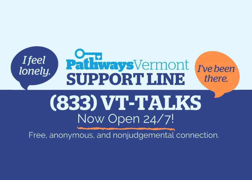 Pathways Vermont Support Line